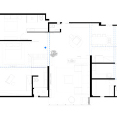 apto oscar freire Paredes e pisos minimalistas por kikacamasmie + arq Minimalista