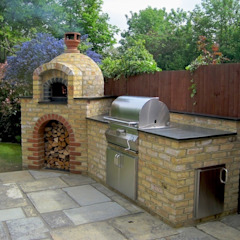 Outdoor Kitchens and BBQ Areas Mediterranean style gardens by Design Outdoors Limited Mediterranean