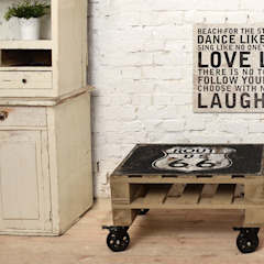 Stolik kawowy Route66/ Route66 coffee table 60x80 od Tailormade Furniture Industrialny