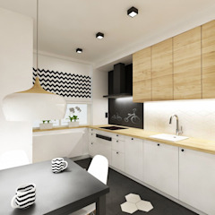 Kuchnia HEX Skandynawska kuchnia od SPOIWO studio Skandynawski