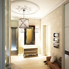 Classic style corridor, hallway and stairs by Студия 'Облако-Дизайн' Classic