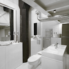 Baños de estilo moderno de justyna smolec architektura & design Moderno