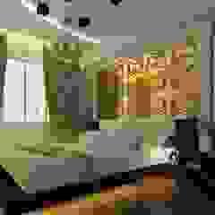 3D GOLD PANEL Endüstriyel Yatak Odası Diva Yapı Endüstriyel