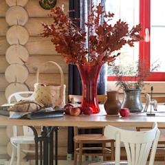 Country style dining room by Tatiana Ivanova Design Country
