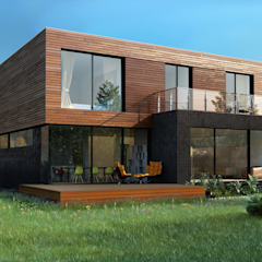 Scandinavian style houses by ALEXANDER ZHIDKOV ARCHITECT Scandinavian Wood Wood effect