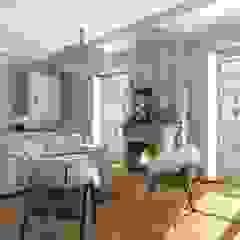 Aleksandra Kostyuchkova Salones de estilo ecléctico