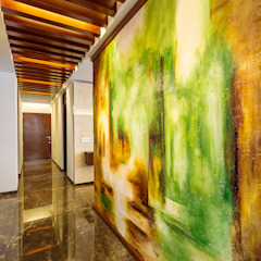 Modern corridor, hallway & stairs by Enrique Cabrera Arquitecto Modern