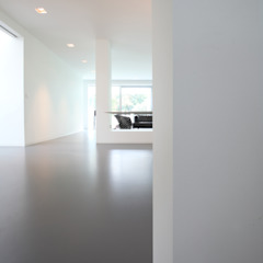 Design bungalow in Bilthoven Minimalistische eetkamers van Lab32 architecten Minimalistisch