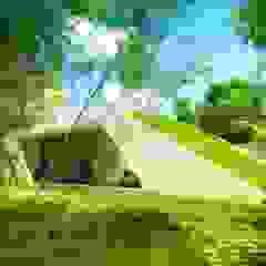 Vista Acceso Principal Casas estilo moderno: ideas, arquitectura e imágenes de sanzpont [arquitectura] Moderno