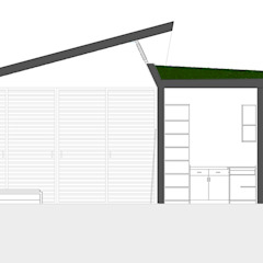 Corte Longitudinal de sanzpont [arquitectura] Moderno
