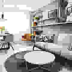 Wrocław / Maślice, mieszkanie - 43m2 Skandynawski salon od razoo-architekci Skandynawski