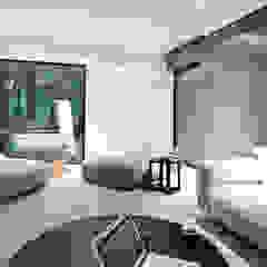 M - house Nowoczesny salon od zwA Architekci Nowoczesny