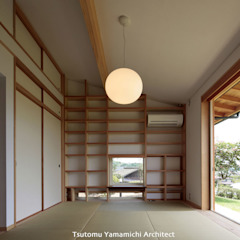 Asian style walls & floors by 山道勉建築 Asian Wood Wood effect