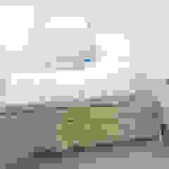 verbouwing appartement met grote kelder Eclectische slaapkamers van BALD architecture Eclectisch
