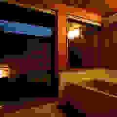 江戸Styleの家(実験住宅としての自邸) ラスティックスタイルの お風呂・バスルーム の 有限会社 光設計 ラスティック