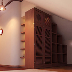 Colonial style dressing rooms by Architoria 3D Colonial