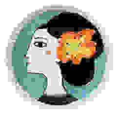 Orange flower par Katy Leigh Éclectique