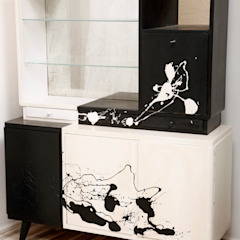 Kredens Pollock, lata 60. od Lata 60-te Nowoczesny