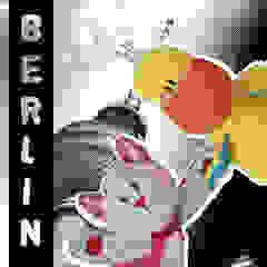 Lizzy & Hoppe like cityhopping in Berlin! par allesPiek Moderne Textile Ambre/Or