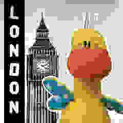 Hoppe went cityhopping in London! par allesPiek Moderne Textile Ambre/Or