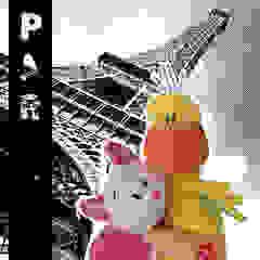 Lizzy & Hoppe romanticly enjoying Paris! par allesPiek Moderne Textile Ambre/Or