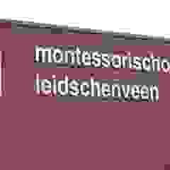 RVS gevelbelettering, reclameborden en displays Industriële scholen van Kouwenbergh Machinefabriek B.V. Industrieel