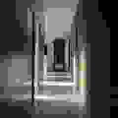 Kampinos komunikacja parter Nowoczesny korytarz, przedpokój i schody od MITARCHITEKCI Nowoczesny