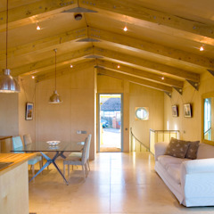 Jago House Salones de estilo moderno de The Manser Practice Architects + Designers Moderno