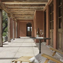 Rustic style corridor, hallway & stairs by Bórmida & Yanzón arquitectos Rustic