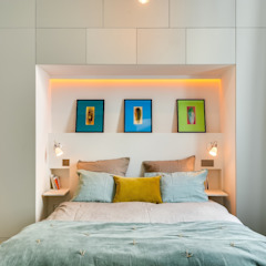 Industrial style bedroom by Meero Industrial