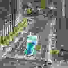 CheongGye Stream Restoration and CheongGye Plaza 인더스트리얼 정원 by Seo Ahn R&D Design Group 인더스트리얼