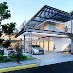 FACHADA SUR Balcones y terrazas industriales de ANGOLO-grado arquitectónico Industrial