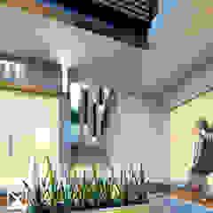 ESCALERAS Pasillos, vestíbulos y escaleras modernos de ANGOLO-grado arquitectónico Moderno Cerámico