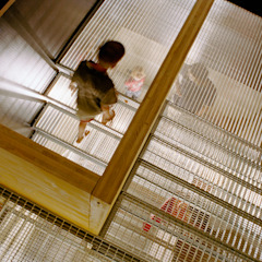steel grating stairs Modern Corridor, Hallway and Staircase by allmermacke Modern Iron/Steel