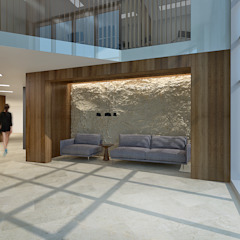 Salas multimedia de estilo clásico de Lugerin Architects Clásico Piedra