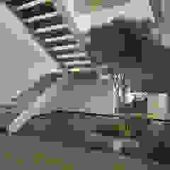 Pasillos, vestíbulos y escaleras minimalistas de 21arquitectos Minimalista