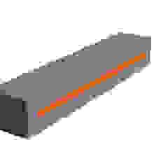 """Schlüsselbrett Beton """"Orange"""": modern  von Buchenbusch urban design,Modern"""