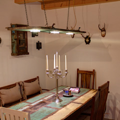 Stefan Necker Tegernseer Badmanufaktur & BadRaumKonzepte ห้องทานข้าวไฟห้องทานข้าว ไม้จริง