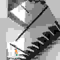 aaestudio Modern corridor, hallway & stairs Iron/Steel Wood effect