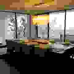 aaestudio Modern dining room Wood Wood effect