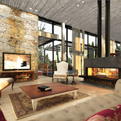 Modern Living Room by Estudio JP Modern