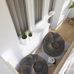 minimalist style balcony, porch & terrace by Мастерская дизайна Welcome Studio Minimalist