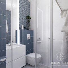 Minimalist style bathrooms by Мастерская дизайна Welcome Studio Minimalist
