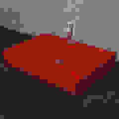 Nowa Droga W Standardach Modern Bathroom Pottery Red