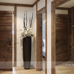 Rustic style corridor, hallway & stairs by Go Interiors GmbH Rustic