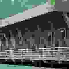 Salão, Alto Rabagão Locais de eventos escandinavos por NORMA | Nova Arquitectura em Madeira (New Architecture in Wood) Escandinavo Madeira maciça Multicolor