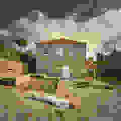 Estrutura de Madeira dentro de Paredes de Pedra por Corpo Atelier Campestre Granito