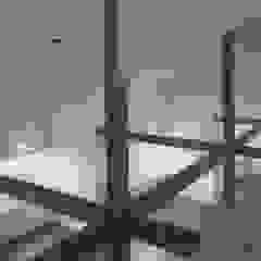 株式会社 高井義和建築設計事務所 Modern Living Room Wood White