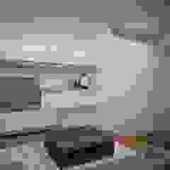 Estudio de TV Salas multimedia de estilo moderno de Ana Corcuera Interiorismo Moderno