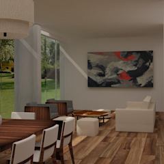 Sala-comedor Comedores de estilo moderno de Ana Corcuera Interiorismo Moderno